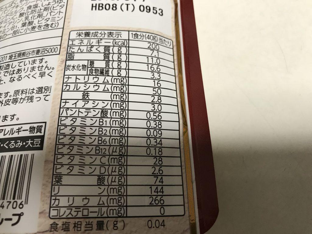 ソイグラ栄養価