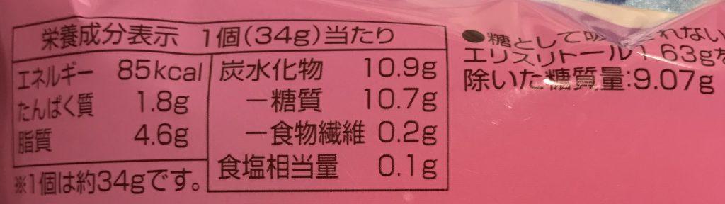 いちごロール栄養価