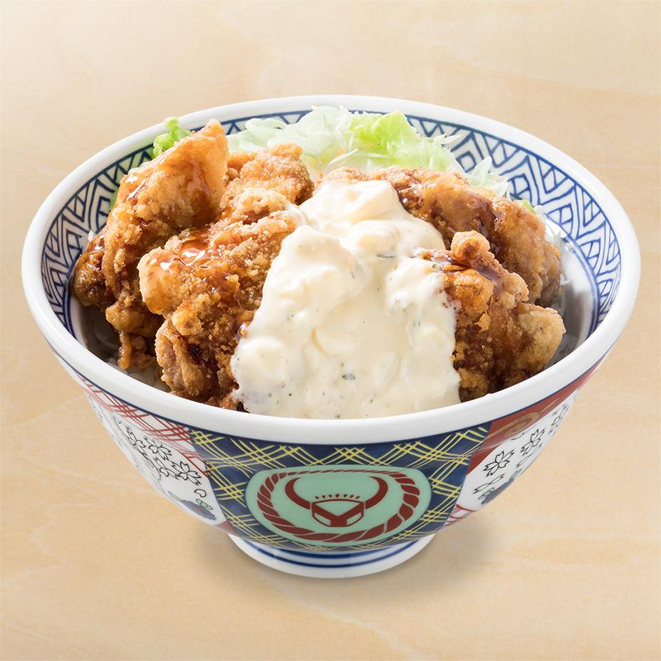 【グルメ】吉野家一部店舗のから揚げが! タルタル南蛮はヘビー級だけどかなり美味しい。